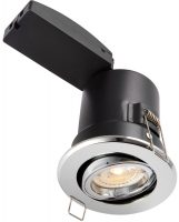 ShieldPlus Polished Chrome 4w LED Fire Rated Tilt Downlight
