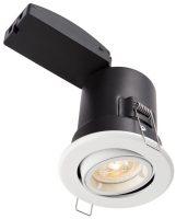 ShieldPlus Matt White 4w LED Fire Rated Tilt Downlight