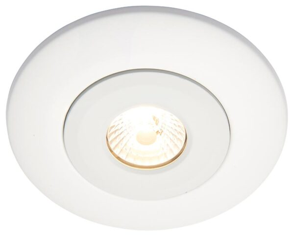 Converse fixed downlight converter for large holes in matt white
