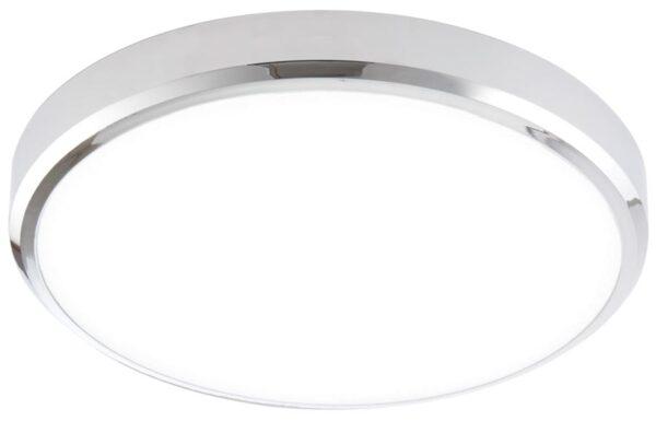 Cobra Flush Chrome Cool White LED Bathroom Ceiling Light