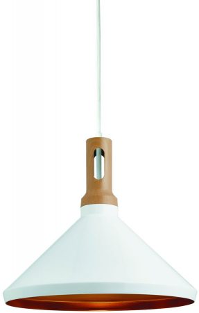 Modern Matt White And Gold Lined Kitchen Pendant