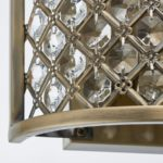 Hudson 2 Lamp Half Round Crystal Wall Light Antique Brass