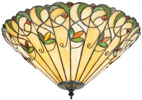 Jamelia Medium 2 Lamp Art Nouveau Style Flush Tiffany Light