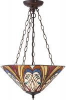 Hector Medium Art Nouveau 3 Light Inverted Tiffany Pendant