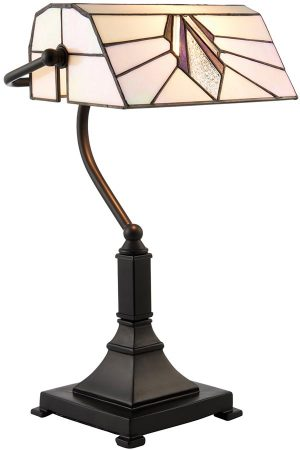 Astoria Tiffany Shade Art Deco Design Bankers lamp