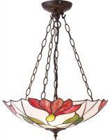 Botanica Large Floral 2 Lamp Inverted Tiffany Pendant Light