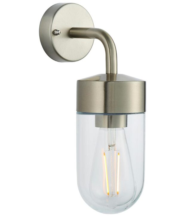 North Wall 1 Light Stainless Steel Outdoor Wall Lantern IP44