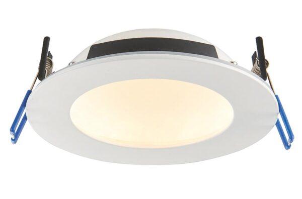 OrbitalPro 12w CCT bathroom shower light in matt white IP65