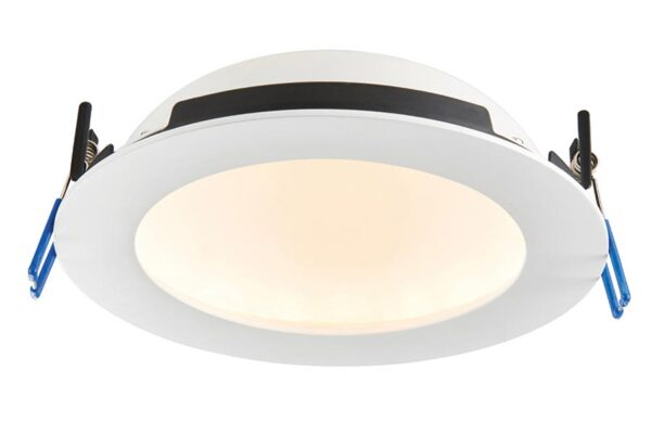OrbitalPro 15w CCT bathroom shower light in matt white IP65