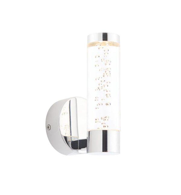 Essence 1 Light LED Bathroom Wall Light Polished Chrome IP44
