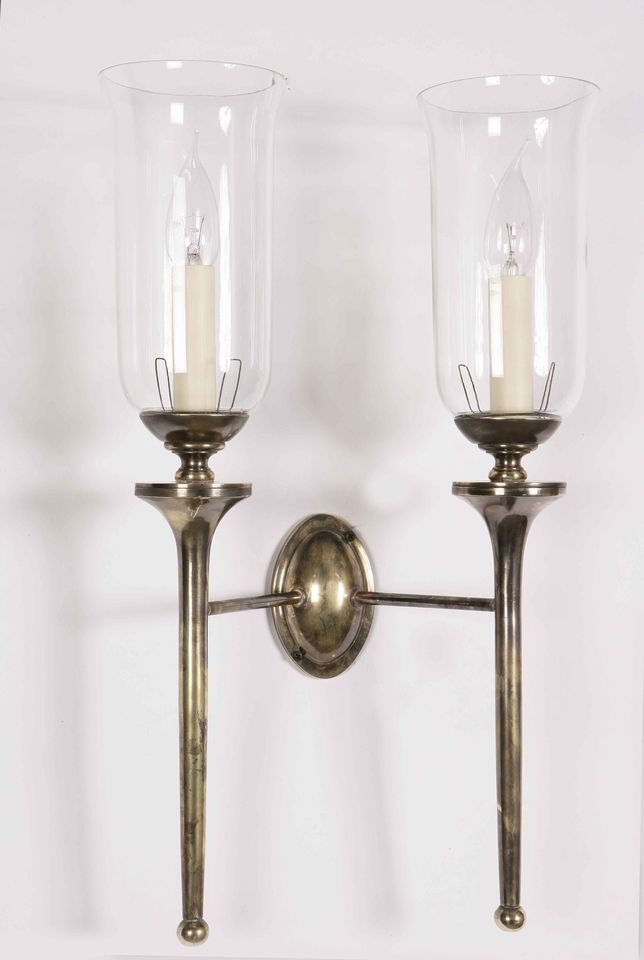 Grosvenor Solid Brass Replica Edwardian Twin Wall Light 721TG
