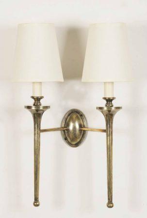 Grosvenor Solid Brass Edwardian Twin Wall Light Handmade In Britain