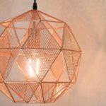 Armour 1 Light Polished Copper Globe Pendant Ceiling Light