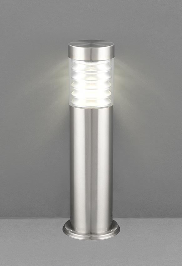 Equinox 50cm LED outdoor post light in 316 stainless steel IP44 lit