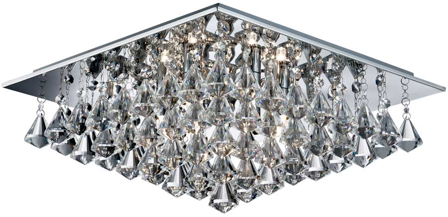 Hanna square chrome 6 light flush diamond crystal light 7306 6cc hanna square chrome 6 light flush diamond crystal light aloadofball Gallery