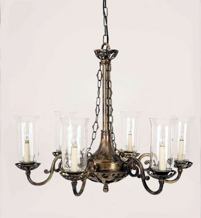 Empire Traditional Solid Brass Period 6 Light Chandelier