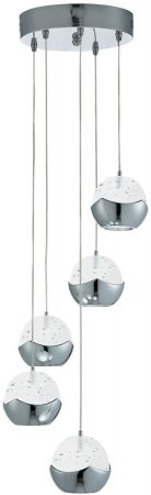 Iceball Modern Chrome 5 Light Dingle Dangle LED Pendant
