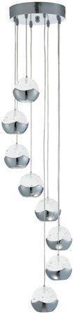 Iceball Modern Chrome 8 Light Dingle Dangle LED Pendant