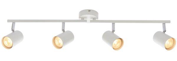 Arezzo Modern Matt White 4 Light LED Ceiling Spot Light Bar
