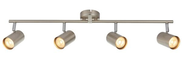 Arezzo Modern Satin Chrome 4 Light LED Ceiling Spot Light Bar
