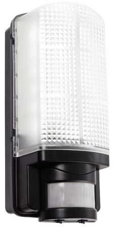 Motion 6W LED Rust Proof PIR Outdoor Wall Light Black IP44