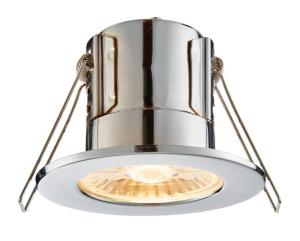ShieldECO Dimmable 4w Warm White LED Fire Rated IP65 Downlight Chrome