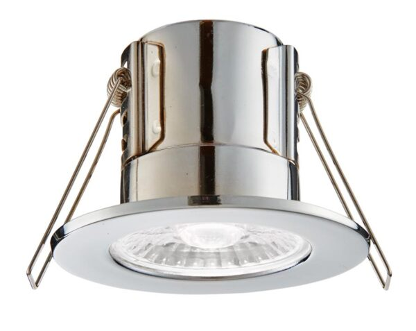 ShieldECO Dimmable 4w Cool White LED Fire Rated IP65 Downlight Chrome