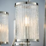 Easton 6 Light Chandelier Polished Nickel Ribbed Bubble Glass Shades