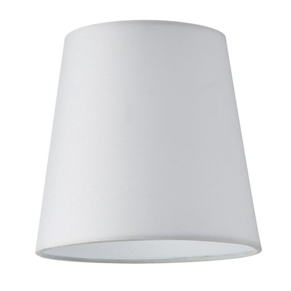 Grace 6 Inch White Silk Clip On Chandelier / Wall Light Shade