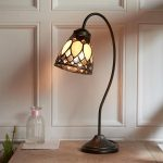 Brooklyn Art Deco Design Swan Neck Tiffany Desk Lamp