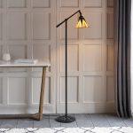 Dark Star Art Deco Style Tiffany Shade Floor Reading Lamp