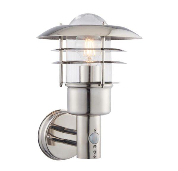 Dexter 304 Stainless Steel 1 Light Outdoor PIR Wall Light IP44