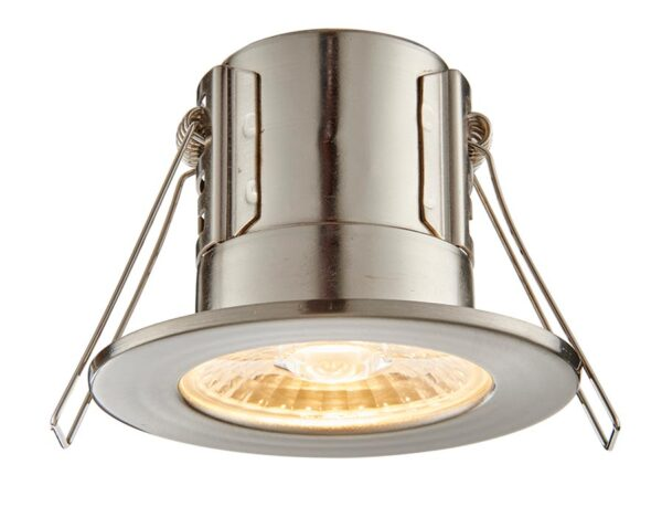 ShieldECO 800 Warm White LED Fire Rated IP65 Downlight Nickel