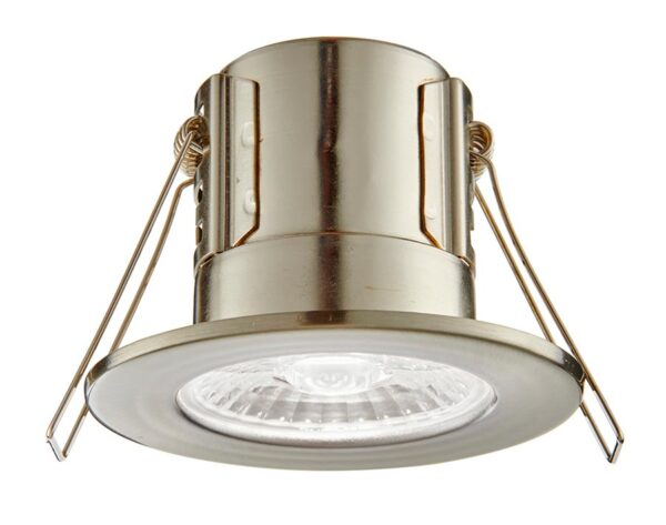 ShieldECO 800 Cool White LED Fire Rated IP65 Downlight Nickel