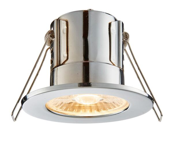 ShieldECO 800 Warm White LED Fire Rated IP65 Downlight Chrome