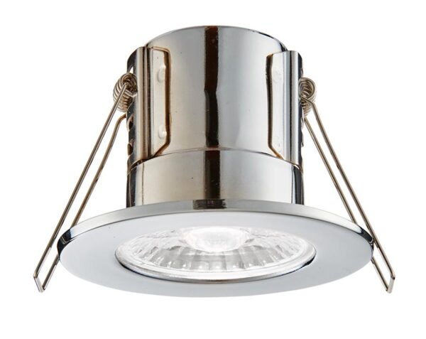 ShieldECO 800 Cool White LED Fire Rated IP65 Downlight Chrome