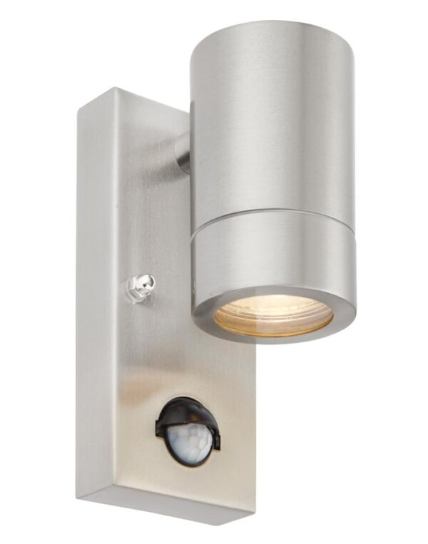 Atlantis Outdoor PIR Down Wall Light 316 Stainless Steel IP44