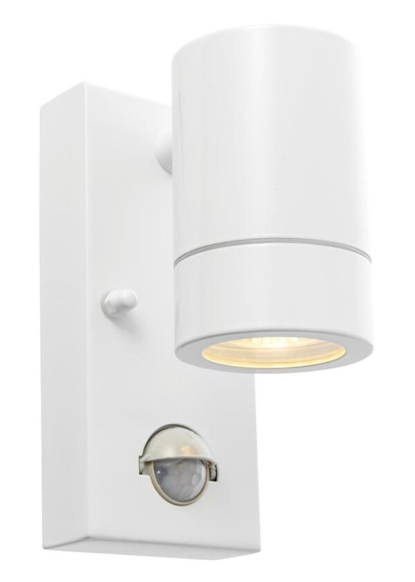 Palin Stainless Steel Outdoor PIR Wall Down Light White Override