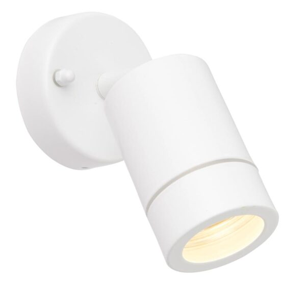 Palin Stainless Steel Adjustable Outdoor Wall Spot Light White IP44