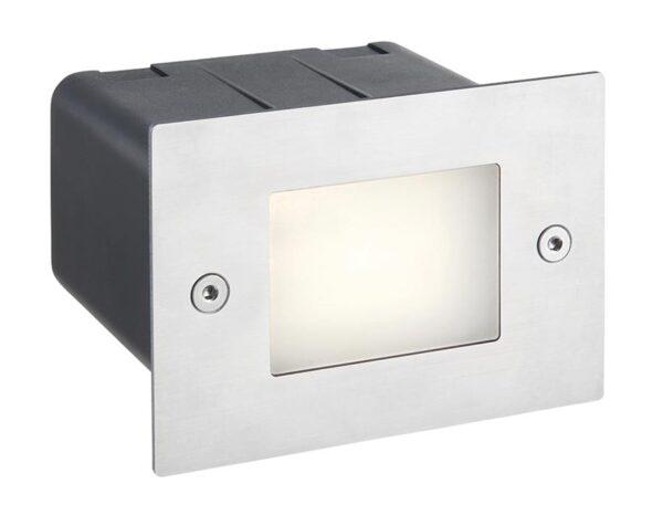 Seina Plain 316 Stainless Steel 2w LED Half Brick Light IP44