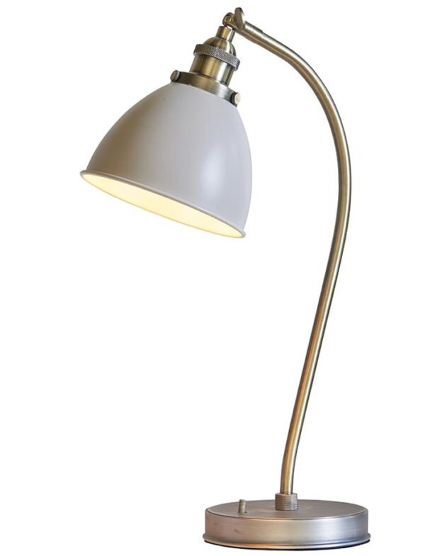 Franklin 1 Light Resto Table / Task Lamp Taupe Antique Brass