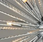Lena 9 Light Pendant Ceiling Light Textured Rods Polished Chrome