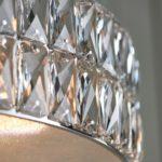 Verina Crystal 5 Light LED Drum Pendant Ceiling Light Chrome