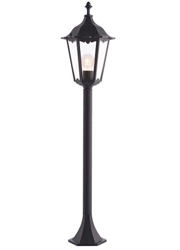 Burford Traditional Outdoor Bollard Lantern Matt Black IP44