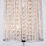 Sophia Crystal Cascade 3 Light Floor Lamp Polished Chrome