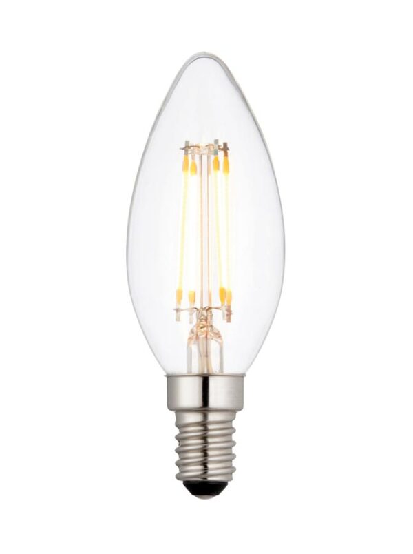 Dimmable 4W E14 Filament LED Candle Bulb Warm White 370 Lumen