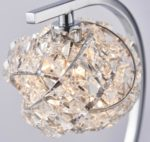 Talia 1 Light Touch Operated Table lamp Polished Chrome Crystal