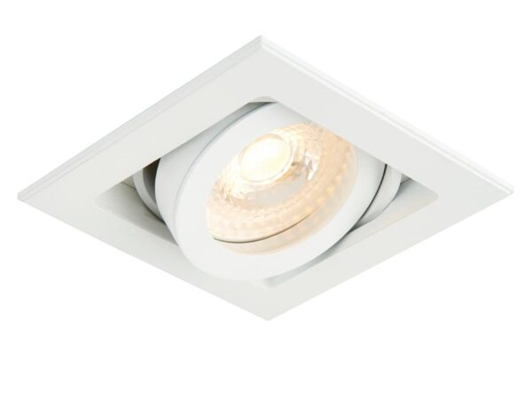 Xeno Adjustable GU10 Recessed Boxed Down Light Matt White