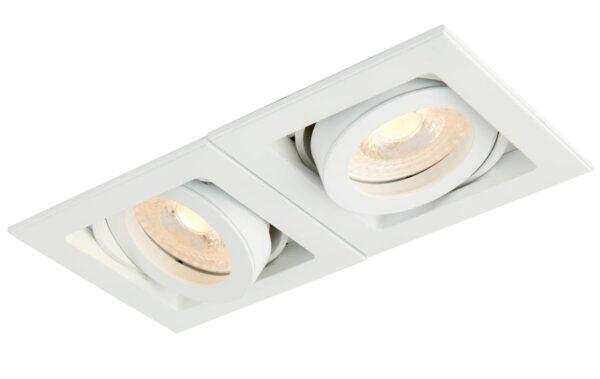 Xeno Adjustable 2 Light GU10 Recessed Boxed Down Light White