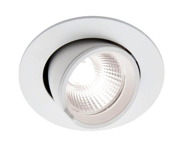 Axial 15w Cool White LED Tilt Down Light Matt White 1200 Lm